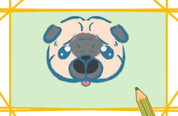 可憐的狗狗兒童畫的圖片怎么畫