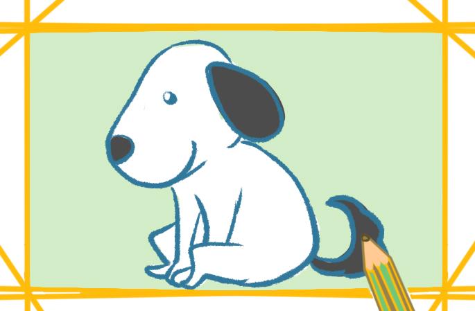 萌狗动物简笔画的图片怎么画