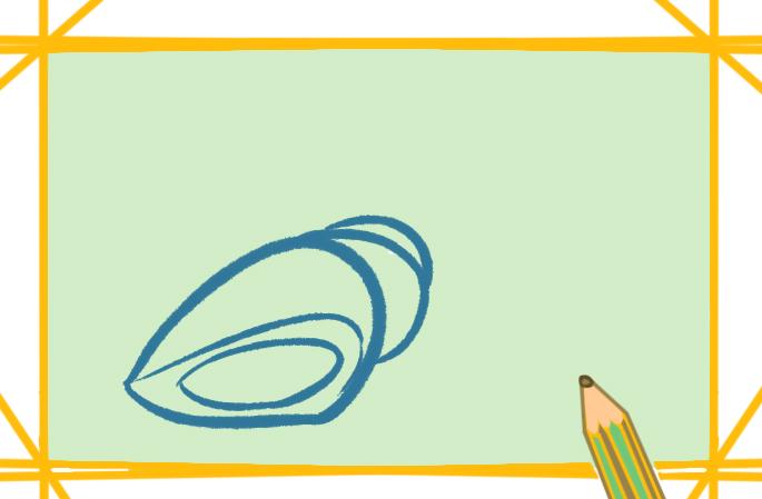 海岸上的海螺上色简笔画图片教程