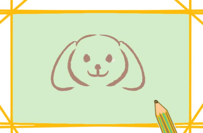 可爱的狗宝宝上色简笔画要怎么画