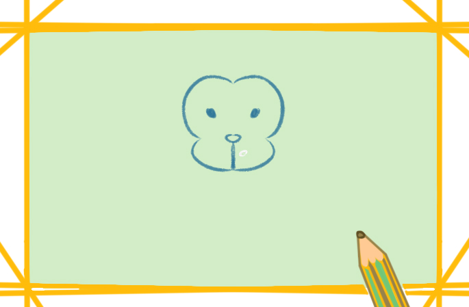 聰明的猴子兒童簡筆畫要怎么畫