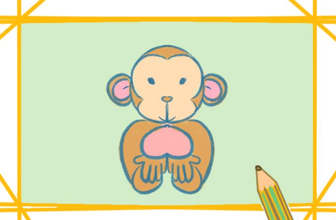 大耳朵的猴上色简笔画要怎么画