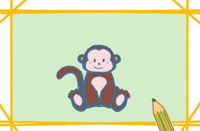 可愛的猴子簡筆畫彩色怎么畫好看