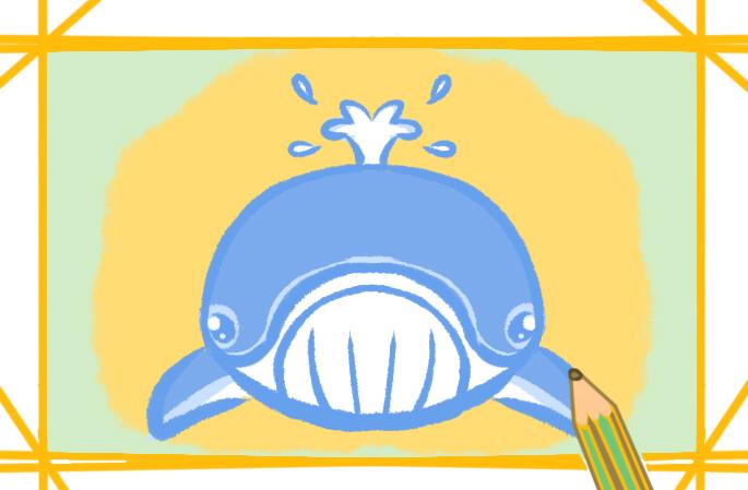 海洋的鲸鱼简笔画要怎么画