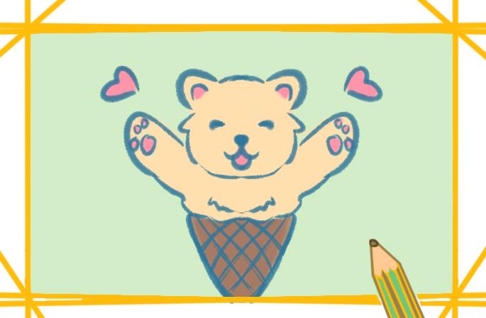 活泼的小黄狗上色简笔画要怎么画