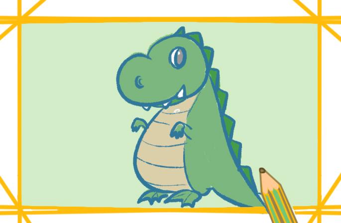 绿色大怪兽上色简笔画要怎么画
