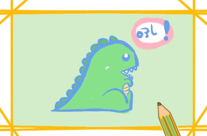 好看的Q版恐龙简笔画的图片怎么画