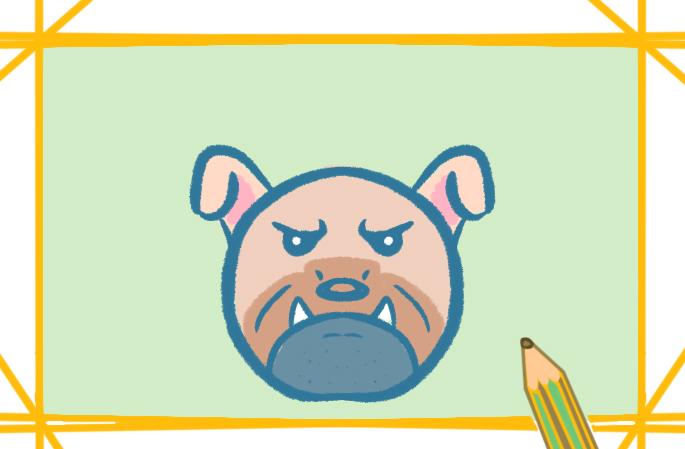 卡通画斗牛犬的图片怎么画