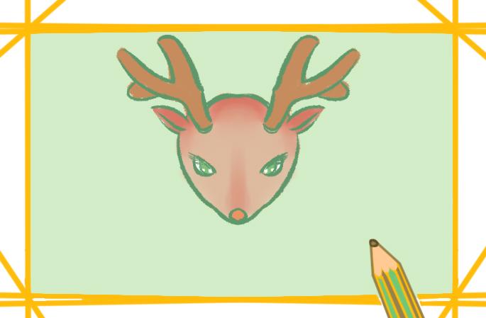 漂亮的小鹿简笔画图片步骤