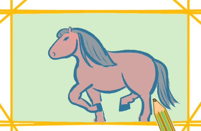 简单好看的马简笔画怎么画