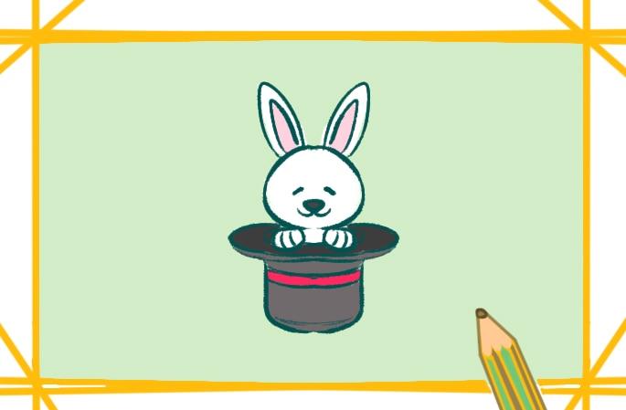 大耳朵小白兔简笔画图片怎么画