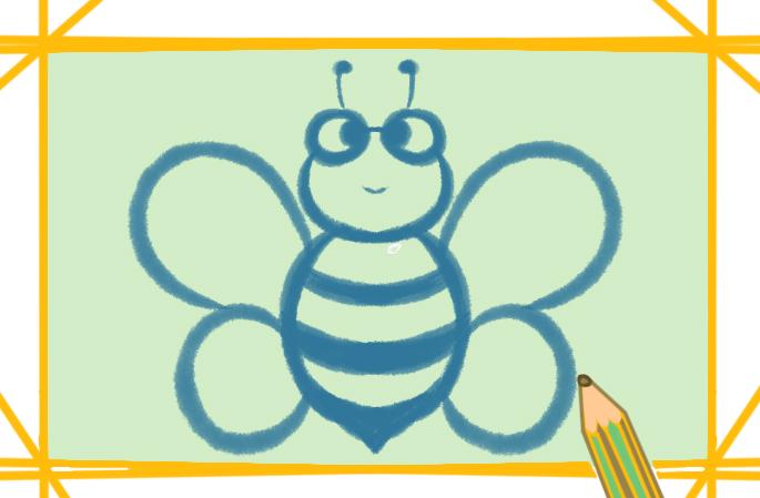 勤勞的蜜蜂上色簡筆畫要怎么畫