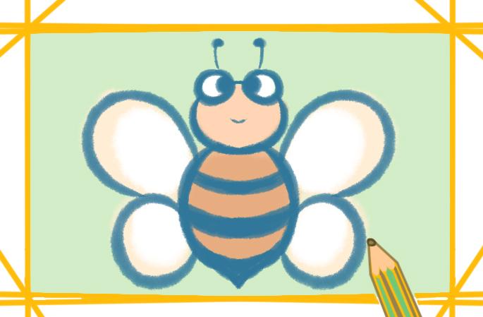 容易画的蜜蜂上色简笔画要怎么画