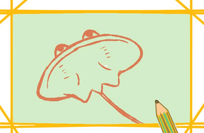 魔鬼鱼简笔画卡通可爱怎么画