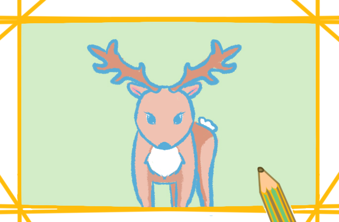 簡筆畫鹿的圖片怎么畫