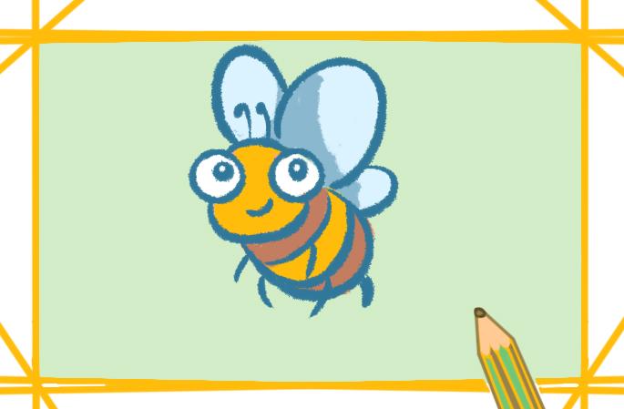 蜜蜂簡筆畫的圖片怎么畫