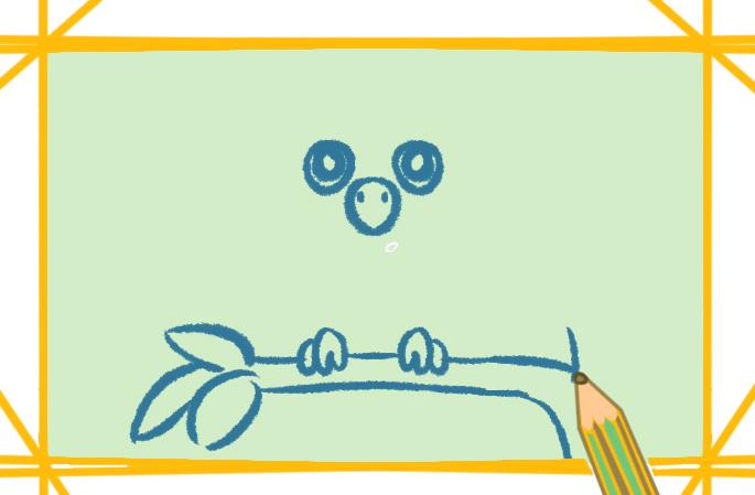 大眼睛的猫头鹰上色简笔画要怎么画