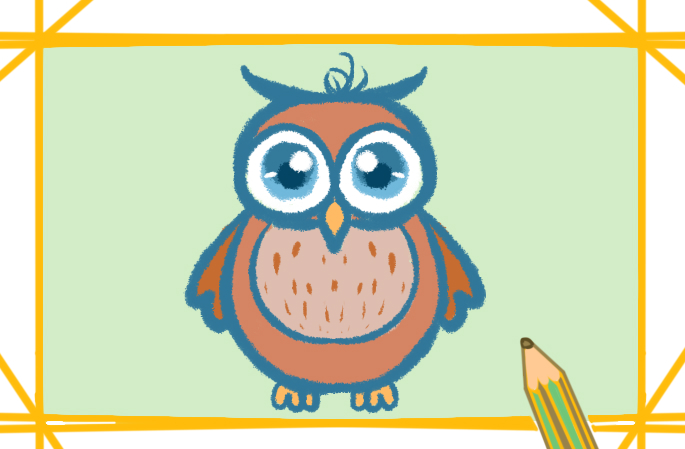 貓頭鷹簡筆畫的圖片怎么畫
