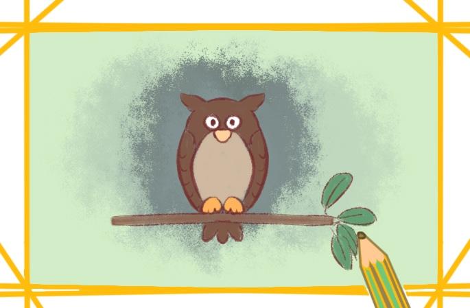 好看的猫头鹰简笔画图片怎么画