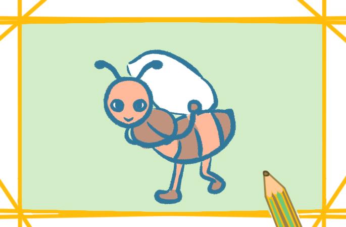 勤劳的蚂蚁简笔画图片大全教程