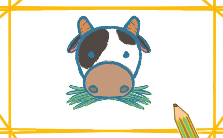 Q版奶牛简笔画怎么画