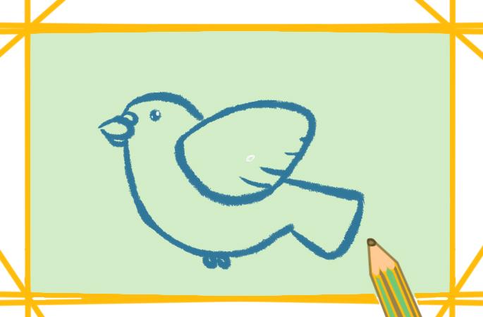 胖乎乎的鸽子上色简笔画要怎么画
