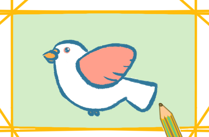 飞翔的鸽子的原创图片怎么画