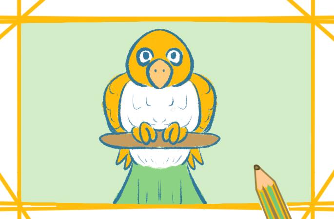 小黄鸟可爱的简笔画怎么画简单