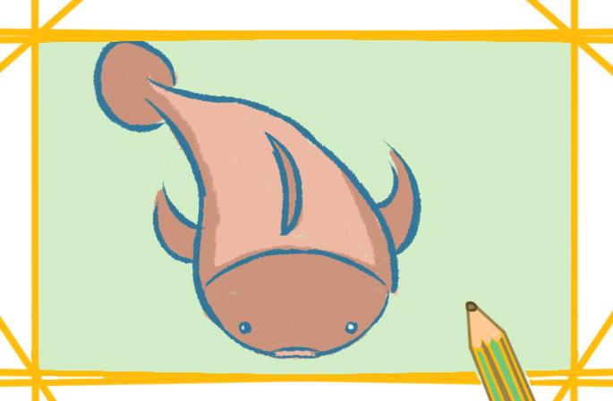 淡水鱼之鲶鱼上色简笔画要怎么画