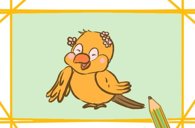好看的黄鸟简笔画图片怎么画