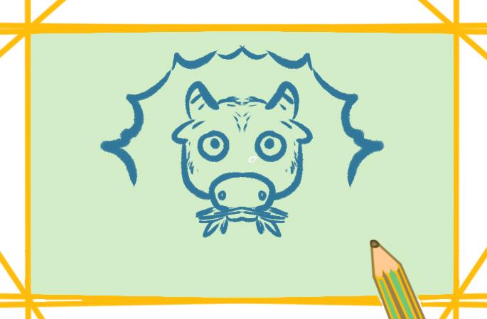 呆呆的黃牛上色簡筆畫要怎么畫