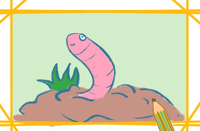 超简单蚯蚓简笔画的图片怎么画