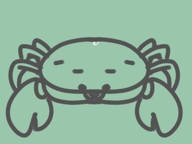简单的螃蟹简笔画图片怎么画