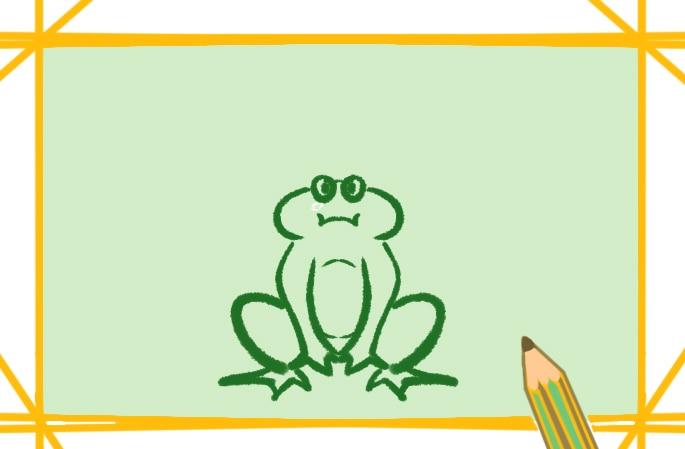 呱呱叫的青蛙简笔画图片怎么画