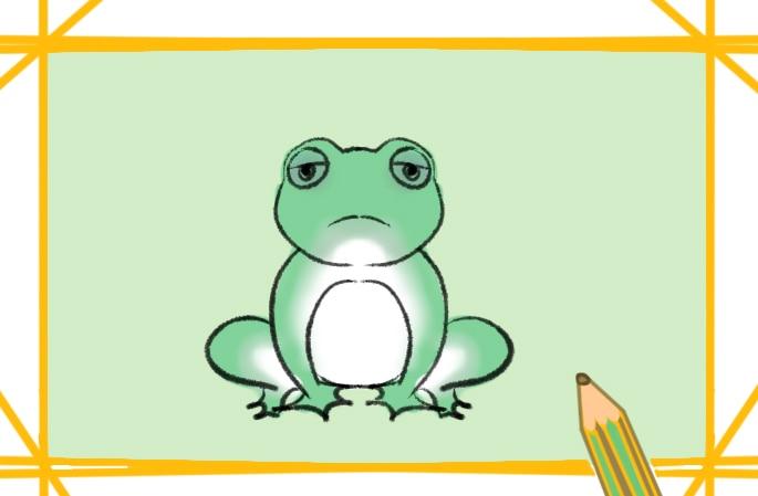 困倦的青蛙简笔画图片怎么画