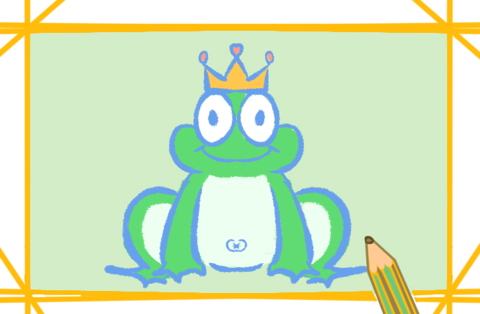 绿色大青蛙好看的简笔画要怎么画