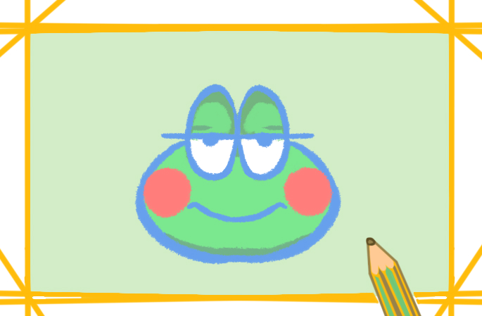 Q版青蛙上色简笔画要怎么画