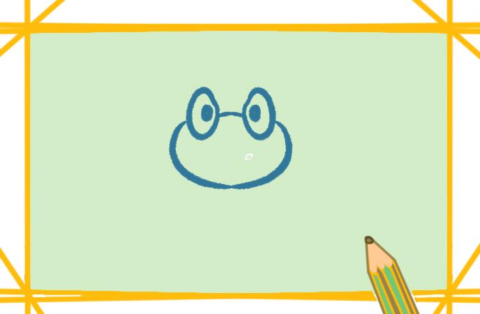 可爱的卡通青蛙上色简笔画要怎么画