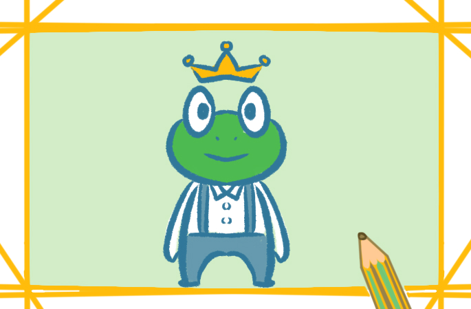 青蛙王子简笔画的卡通图片怎么画