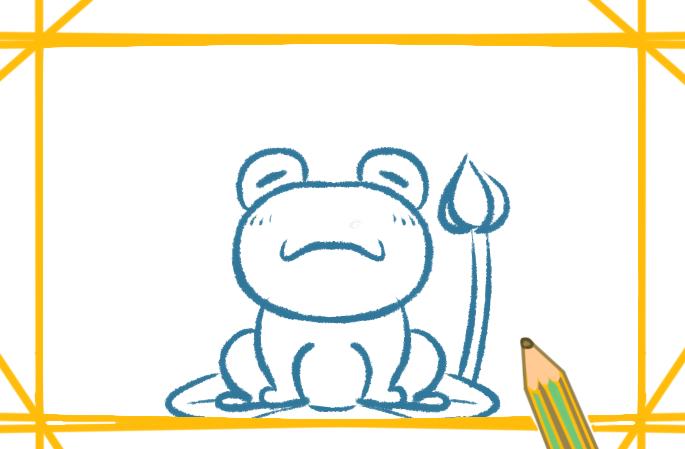 青蛙带颜色简笔画的图片怎么画