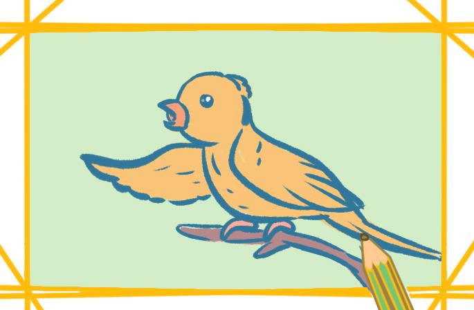 唱歌的鸟儿简笔画图片教程