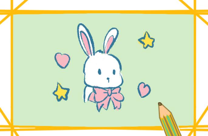 漂亮的兔子簡筆畫圖片大全教程