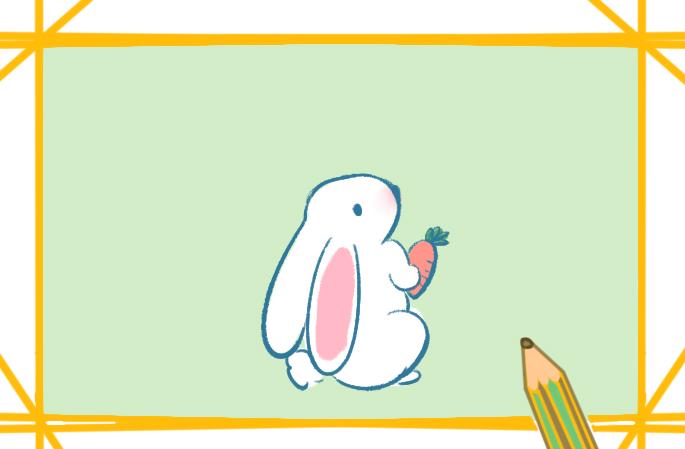 雪白的兔子上色簡筆畫要怎么畫_兔子簡筆畫