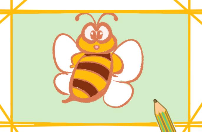 卡通可爱的蜜蜂简笔画图片大全