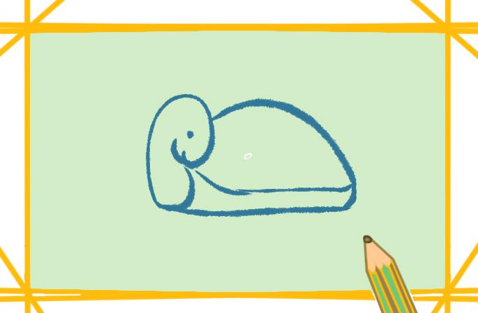 卡通烏龜簡筆畫帶顏色的圖片怎么畫