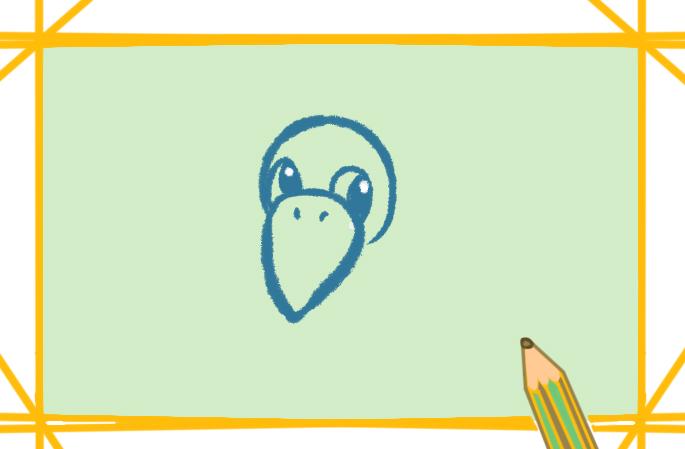 乌鸦带颜色卡通简笔画怎么画