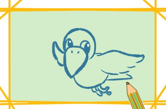 烏鴉帶顏色卡通簡筆畫怎么畫