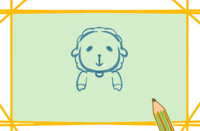 雪白的綿羊簡筆畫要怎么畫