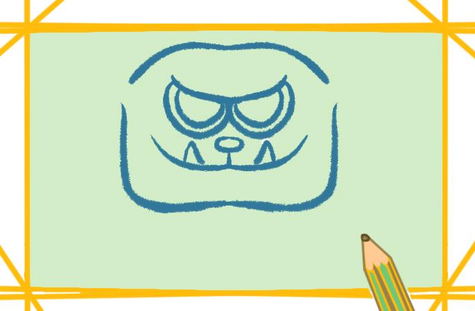 斗牛犬簡單的兒童畫怎么畫