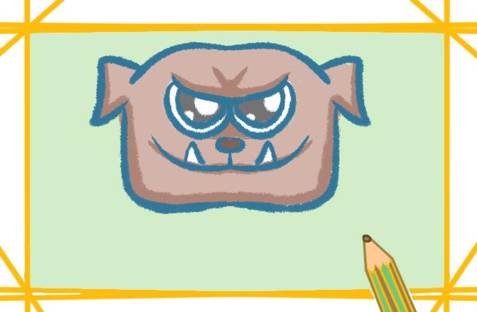 斗牛犬简单的儿童画怎么画